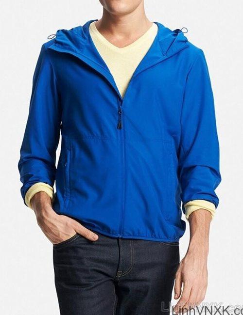 Áo khoác gió nam xuất khẩu nhật 1 lớp dư xịn màu xanh da trời