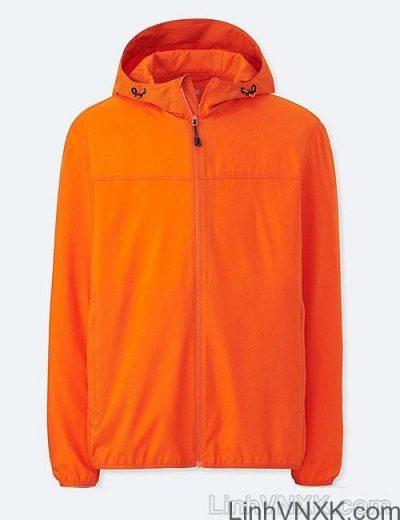 Áo khoác gió nam xuất khẩu nhật 1 lớp dư xịn màu cam đậm