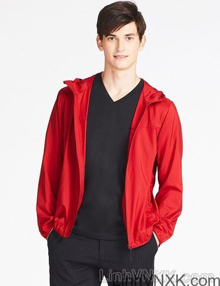 Áo khoác gió nam xuất khẩu nhật 1 lớp dư xịn màu đỏ