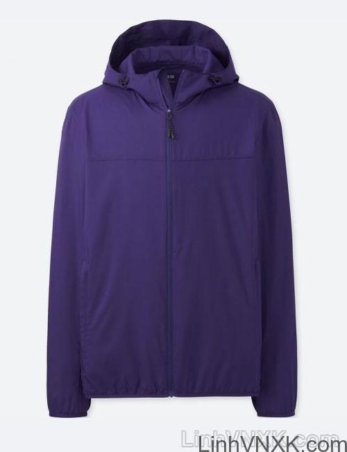 Áo khoác gió nam xuất khẩu nhật 1 lớp dư xịn màu tím