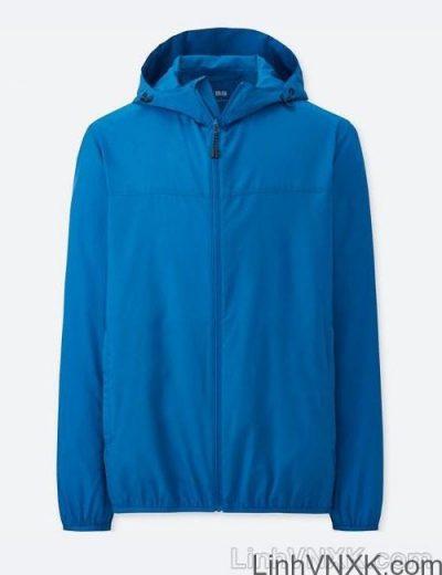 Áo khoác gió nam xuất khẩu nhật 1 lớp dư xịn màu xanh blue