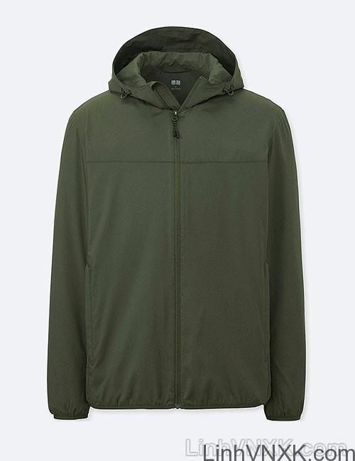 Áo khoác gió nam xuất khẩu nhật 1 lớp dư xịn màu xanh rêu