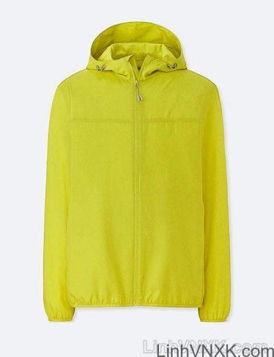Áo khoác gió nam xuất khẩu nhật 1 lớp dư xịn màu vàng