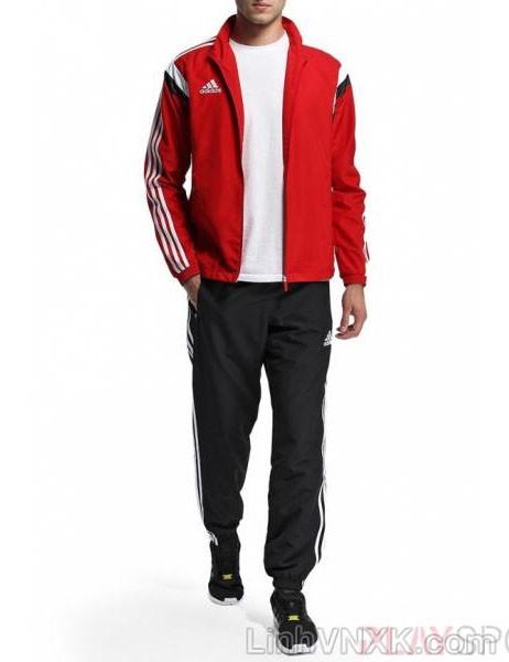 Áo khoác gió nam thể thao xuất khẩu màu đỏ