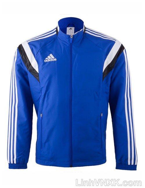 Áo khoác gió nam thể thao xuất khẩu màu xanh blue