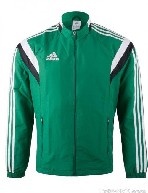 Áo khoác gió nam thể thao xuất khẩu màu xanh lá cây