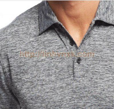 Áo phông có cổ nam xuất khẩu alfani ghi xước