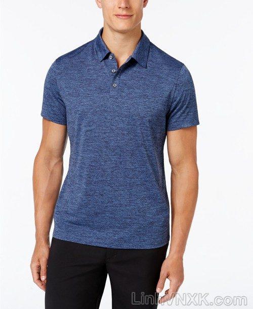 Áo phông có cổ nam xuất khẩu alfani màu xanh navy nhạt