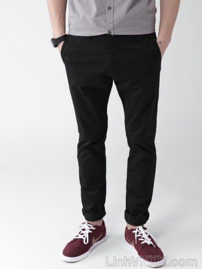 quần kaki nam 21men xuất khẩu màu đen