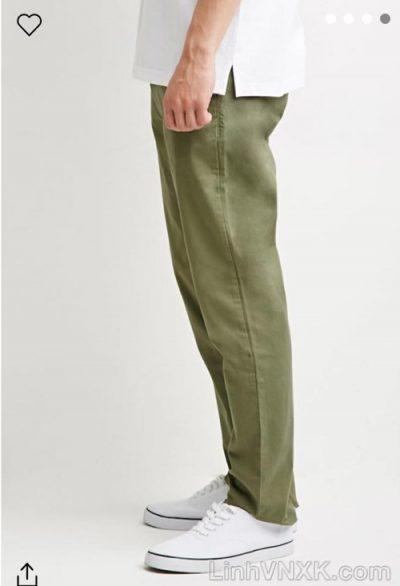 quần kaki nam 21men xuất khẩu màu rêu