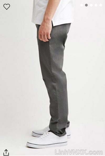 quần kaki nam 21men xuất khẩu màu ghi