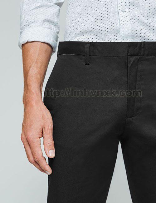 Quần kaki nam xuất khẩu màu đen brice