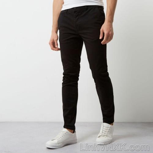 quần kaki nam celio skinny màu đen