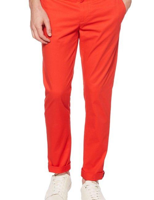 Quần kaki nam giả jean Penguin màu đỏ cam