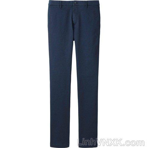 Quần kaki nam uniqlo skinny ultra stretch màu xanh navy