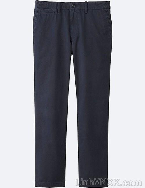 Quần kaki nam xuất khẩu Uni vintage regular fit màu navy