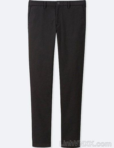 Quần kaki nam xuất khẩu Uni slimfit màu đen