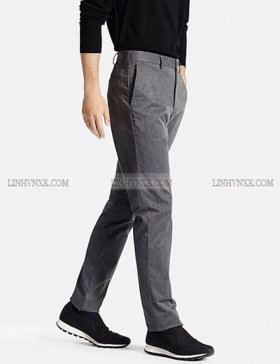 Quần kaki nam xuất khẩu Uni slimfit màu lông chuột xước