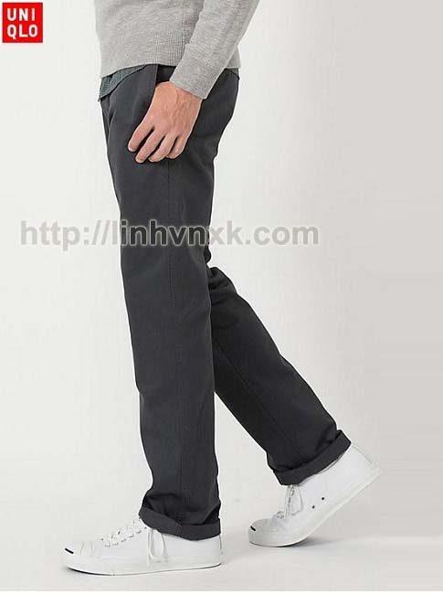 quần kaki nam xuất khẩu Uniqlo regular fit xịn chính hãng
