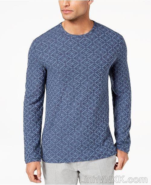 Áo len mỏng họa tiết Tasso Elba màu navy