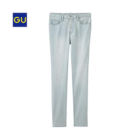 Quần jean nam GU skinny xanh sáng