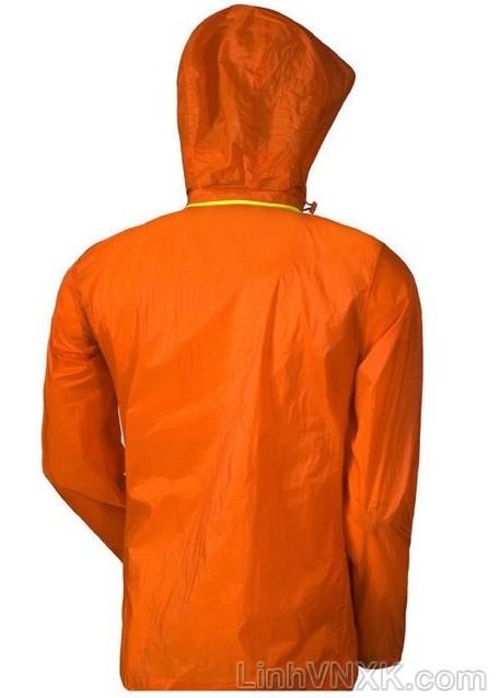 Áo khoác gió một lớp xuất khẩu Vitro màu cam