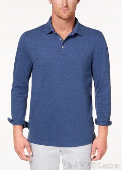Áo polo nam dài tay xuất khẩu clubroom màu xanh blue