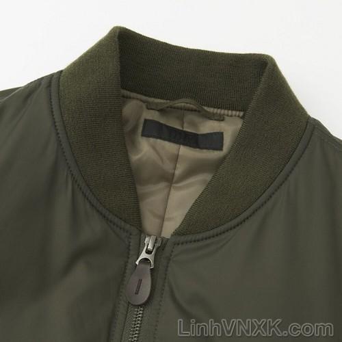 Áo khoác bomber nam xuất khẩu uniqlo màu xanh rêu