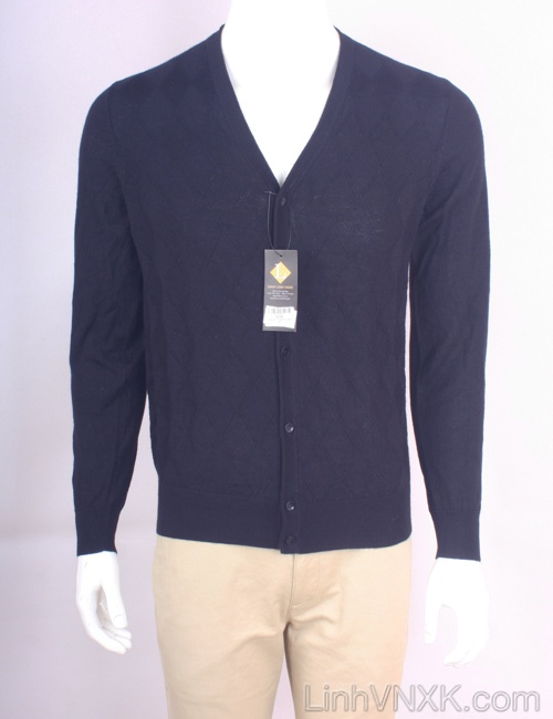 Áo cardiga nam len Uniqlo màu xanh navy