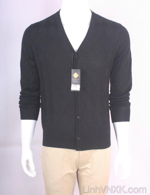 Áo cardiga nam len Uniqlo màu đen