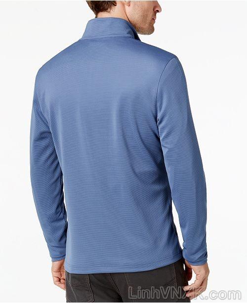 Áo dài tay nửa khóa xuất khẩu Alfani màu xanh