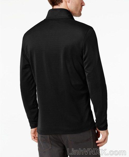 Áo dài tay nửa khóa xuất khẩu Alfani màu đen