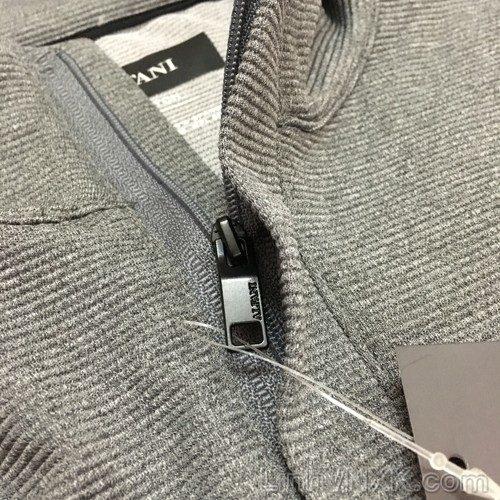 Áo dài tay nửa khóa xuất khẩu Alfani màu ghi