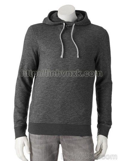 Áo hoodie nỉ nam xuất khẩu màu ghi