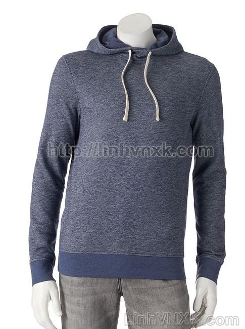 Áo hoodie nỉ nam xuất khẩu màu xanh navy