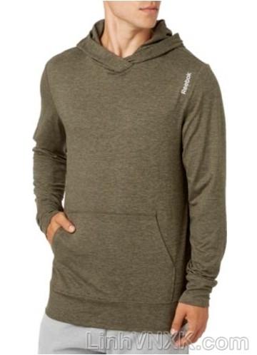 Áo hoodie thể thao Reebok màu rêu