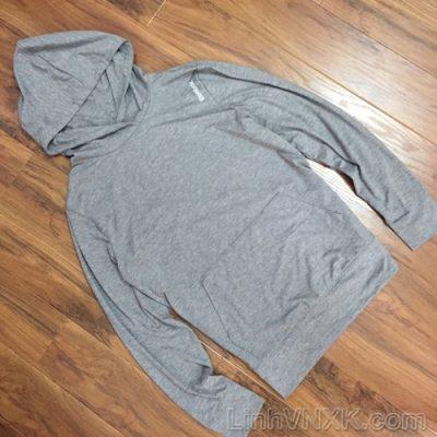 Áo hoodie thể thao Reebok màu ghi sáng
