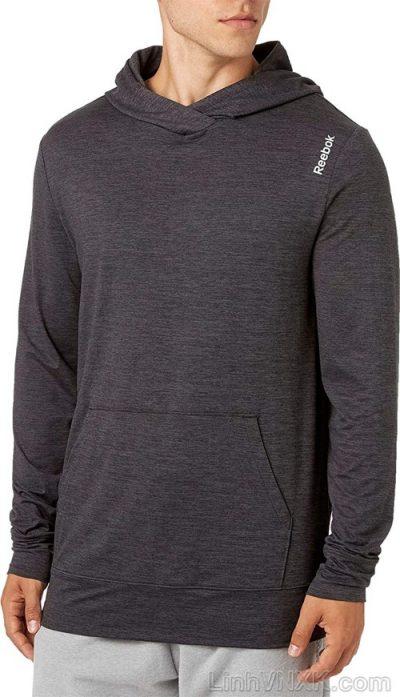 Áo hoodie thể thao Reebok màu ghi đậm