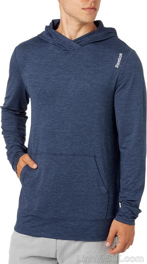 Áo hoodie thể thao Reebok màu xanh navy