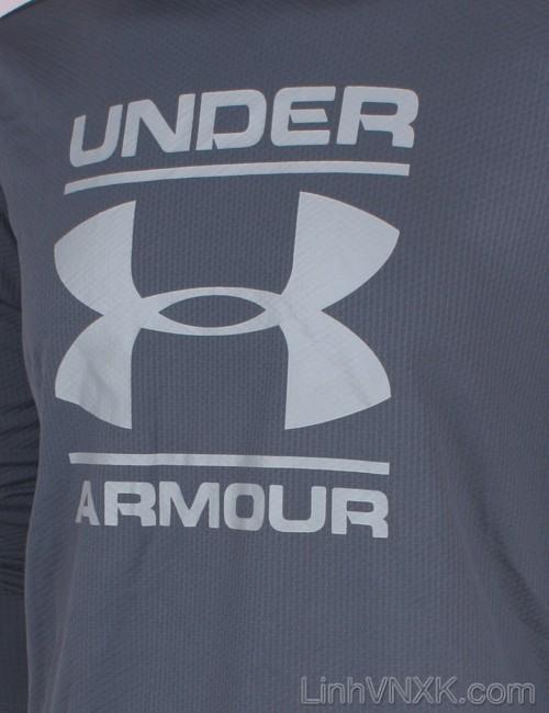 Áo hoodie thể thao nam xuất khẩu Under Armour màu ghi