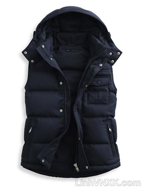 Áo khoác gile nam lông vũ xuất khẩu Lativ màu navy