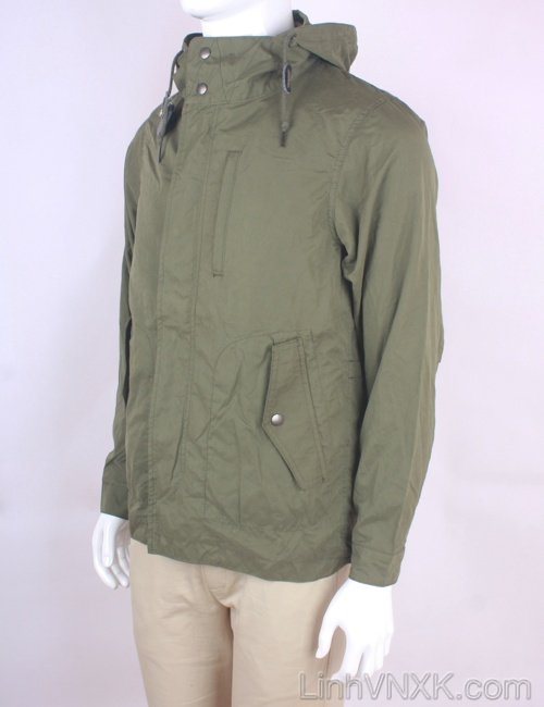 Áo khoác kaki nam chống nước xuất Nhật Back Number màu rêu