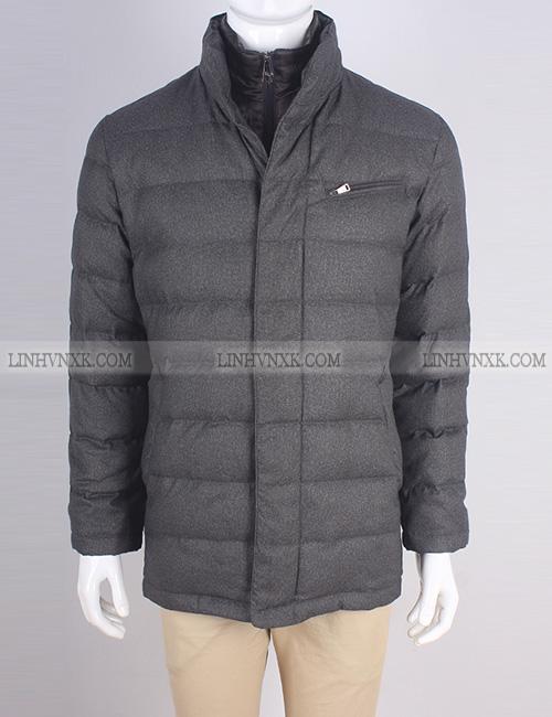 Áo khoác blaze nam lông vũ 2in1 xuất Hàn màu xanh ghi