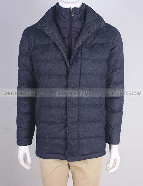 Áo khoác blaze nam lông vũ 2in1 xuất Hàn màu xanh navy