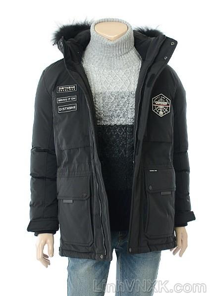 Áo khoác nam lông vũ xuất khẩu litmus màu đen