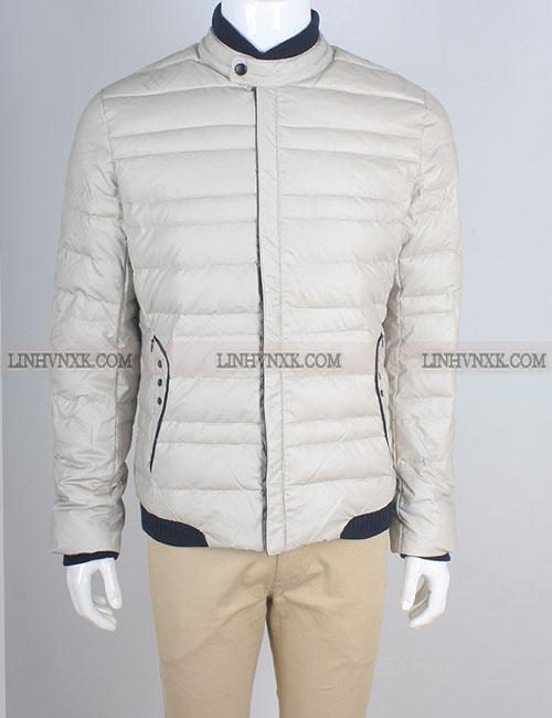 áo khoác lông vũ nam paul smith màu ghi trắng