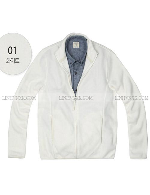 Áo khoác nỉ giữ nhiệt giordano màu trắng