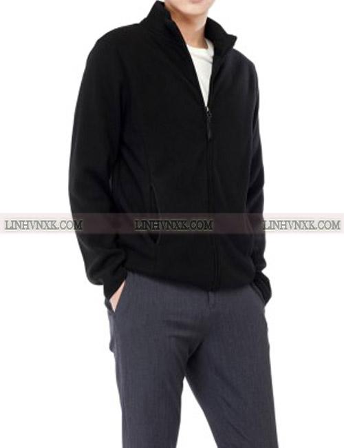 Áo khoác nỉ giữ nhiệt giordano màu đen