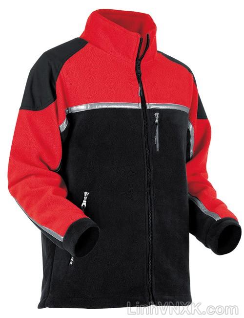Áo khoác nỉ nam dày Pfanner màu đỏ đen