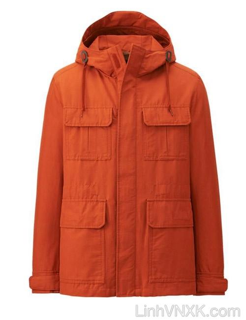 Áo khoác kaki nam Uniqlo xuất khẩu xịn màu cam